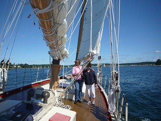 Boothbay Harbor    Eastwind underway