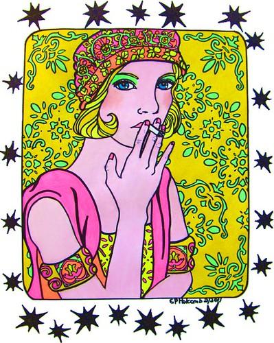 flapper smoking