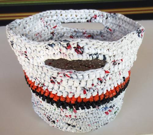 Crocheted Plarn Basket of Goodies