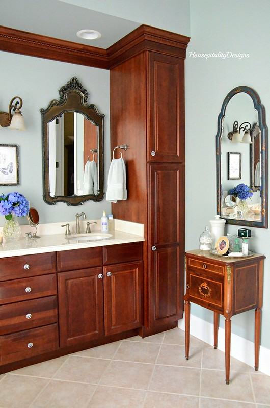 Master Bathroom-Antique French Commode-Housepitality Designs