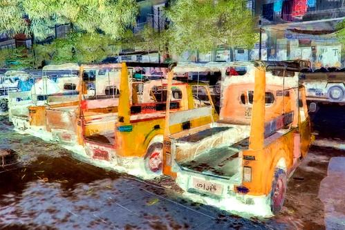 Myanmar - Mandalay - Streetlife - Auto Rickshaws - Public Transport - Three Wheeler - 5bb