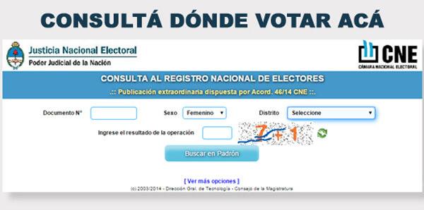 Donde Voto en Neuquén