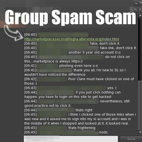 Group Spam Scams