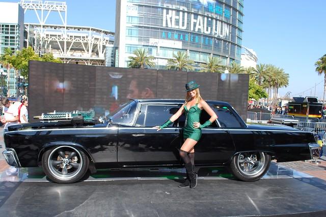 Green Hornet Car and Girl