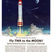 Fly TWA magazine ad by artist Frank Soltesz