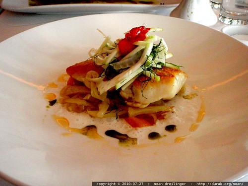 my dinner @ tenderloin (halibut in coconut emulsion)   P7270037