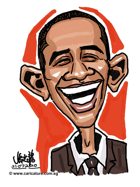 cartoon drawing demo of Barrack Obama - 1 | Flickr - Photo ...