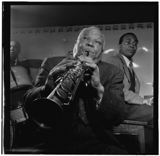 [Portrait of Sidney Bechet, Freddie Moore, and Lloyd Phillips, Jimmy Ryan's (Club), New York, N.Y., ca. June 1947] (LOC)