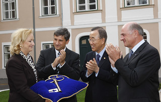 UN Secretary-General, Ban Ki-moon visit in Vienna, September 2010