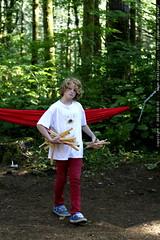 yavin brings split wood to start a fire