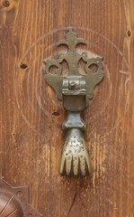 art, wood, metal, door knocker,