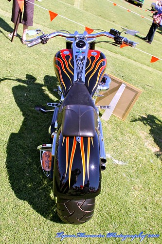 flaming bike