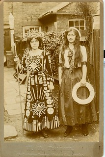 Young women wearing fireworks in United Kingdom ...see reverse