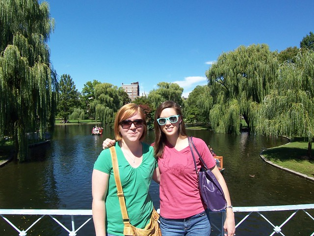 megan and anna in the public garden