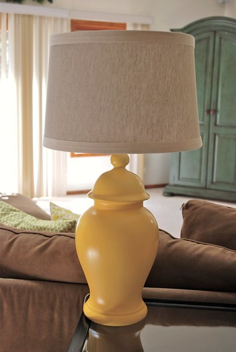 how to paint a ceramic lamp and change lives raising. Black Bedroom Furniture Sets. Home Design Ideas