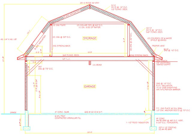 Pin barn style on pinterest for 32x40 garage plans