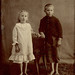 Barefoot Children in Tent Tintype