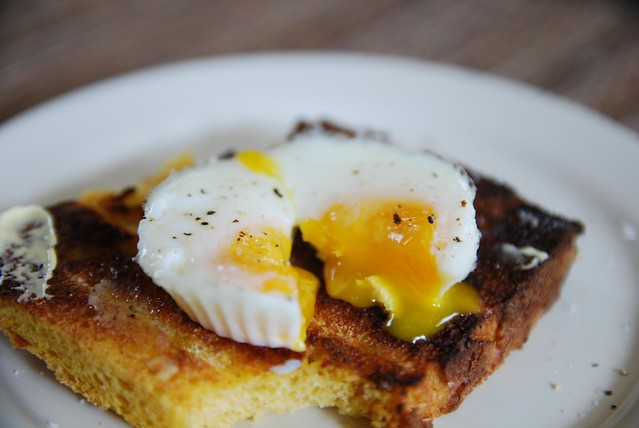 Oozy yolks - Poached Egg on Toast - bright