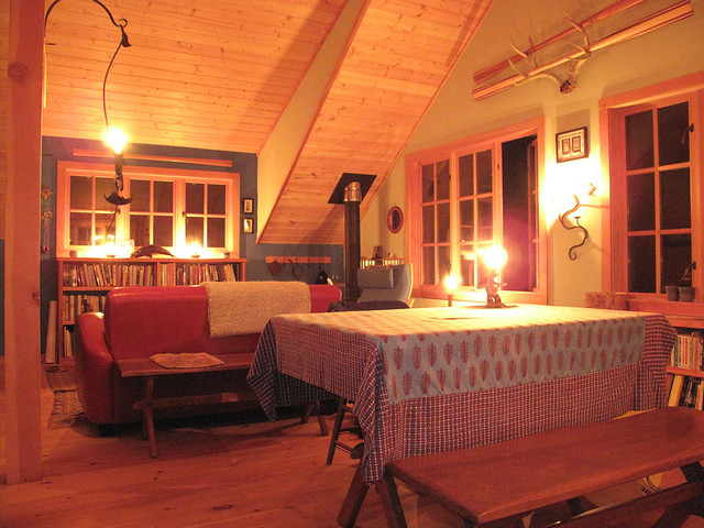 Inside The Barn Apartment At Night By Candlelight Flickr Photo Sharing