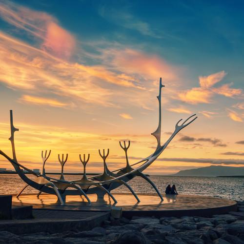 sunset sculpture iceland reykjavik reykjavík vikingship nikond90 jóngunnarárnason