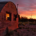 Small photo of A new dawn over the deserted shed