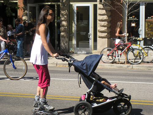 Rollerblades and Jogging Stroller