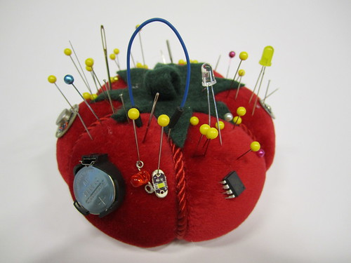 Pincushion with components