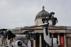 Industrial Machines In Trafalgar Square
