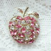 Pink Apple Brooch