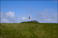 Tourists on Mount Eden