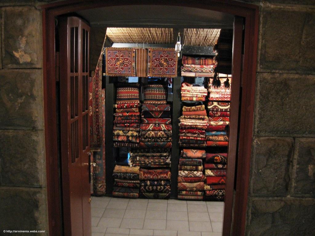 A rug shop in Yerevan