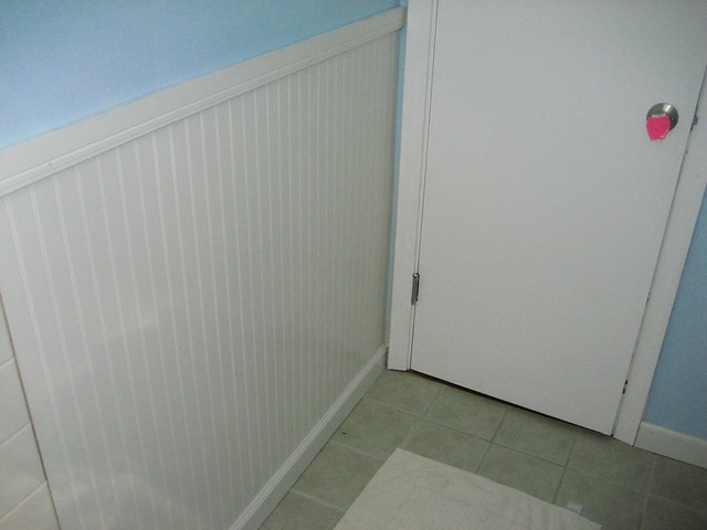 Wainscoting bathroom flickr photo sharing for Installing wainscoting in bathroom