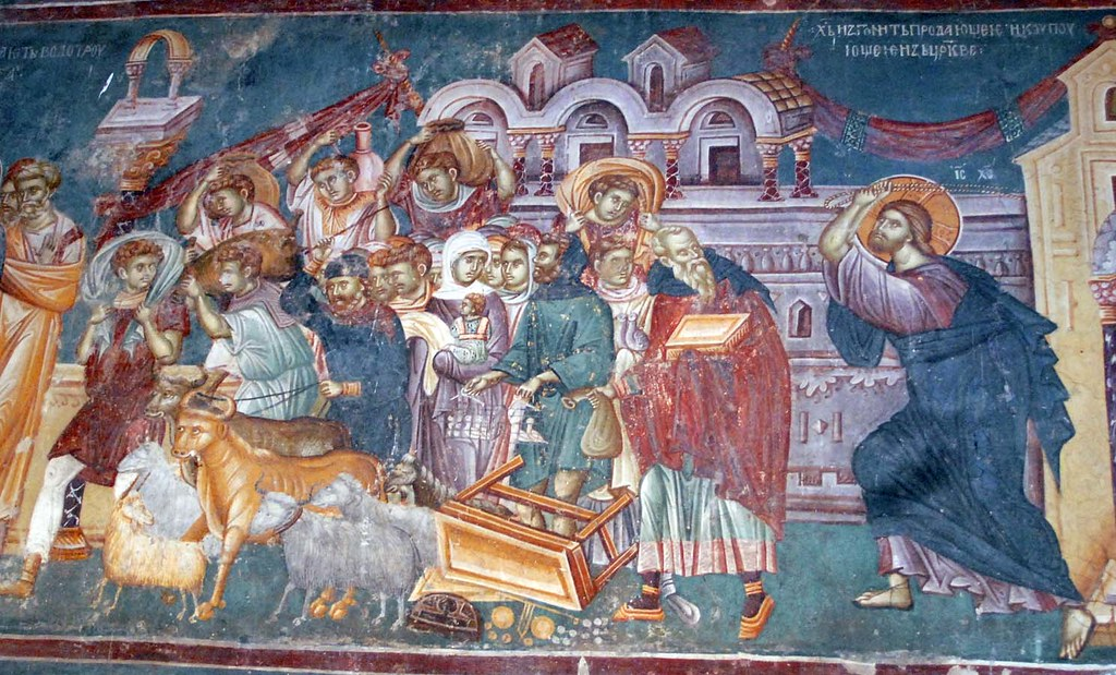 St Nikita, Banjani, Macedonia - Money changers in the Temple