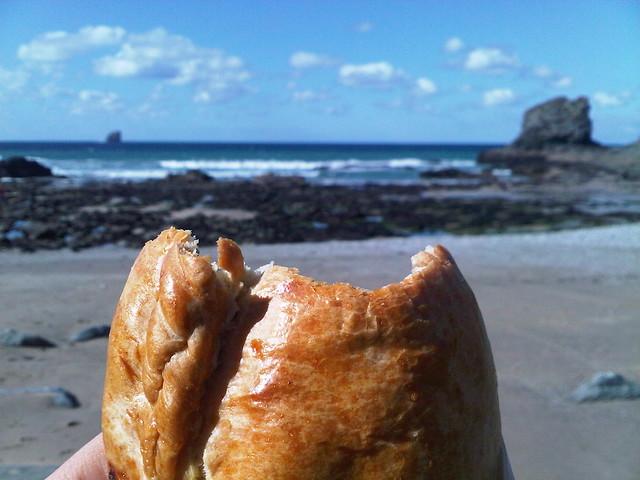 pasty beach cornwall