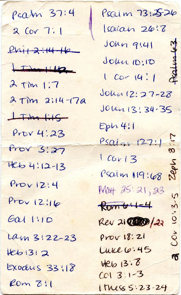 bible verse list