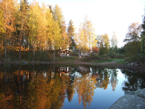 lake reflection finland bay fallcolors autumncolors birch sauna keuruu isokirja