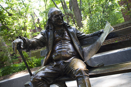 Benjamin Franklin on the Bench, University of Pennsylvania
