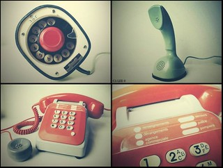 Telephones collage