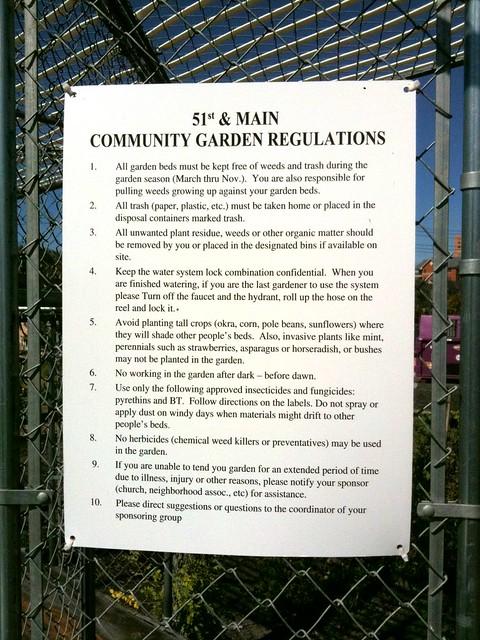 Community garden rules Flickr Photo Sharing
