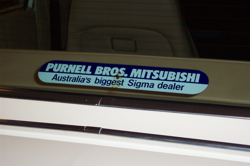 Chrysler & Mitsubishi dealer sticker - Purnell Bros. Bankstown