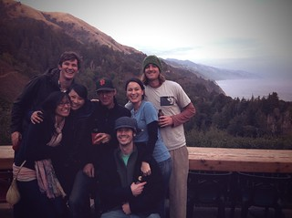 the crew before arcade fire in big sur