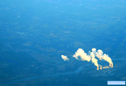 Dampierre nuclear power plant, aerial photograph