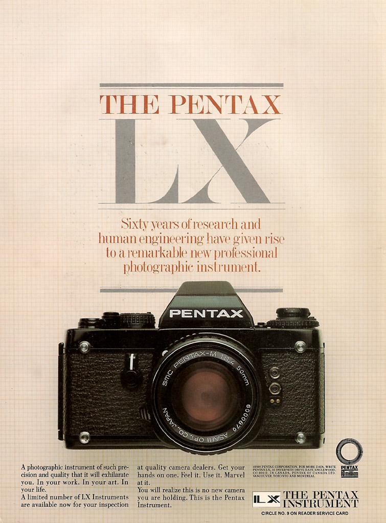 Pentax LX Ad