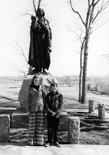 Sakakawea Statue Two children