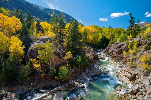 Roaring Water, Big Rocks, Yellow Aspens ... Colorado