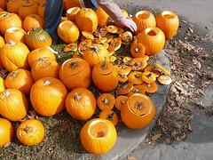 Gutted pumpkins