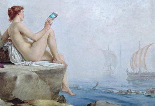 Siren Sexting Sailors, after Edward Armitage