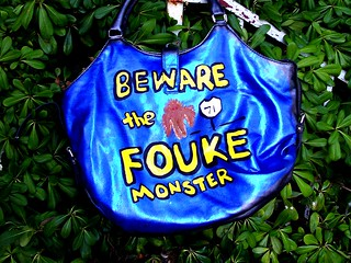 Beware the Fouke Monster Handbag WIP Back