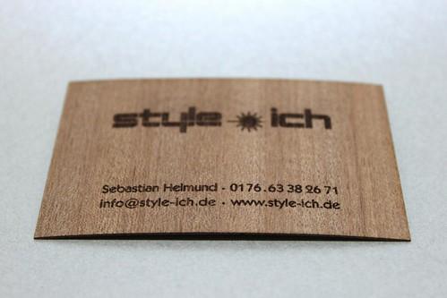frisch gebrannt die ersten style ich visitenkarten mit gravur signuu blog. Black Bedroom Furniture Sets. Home Design Ideas