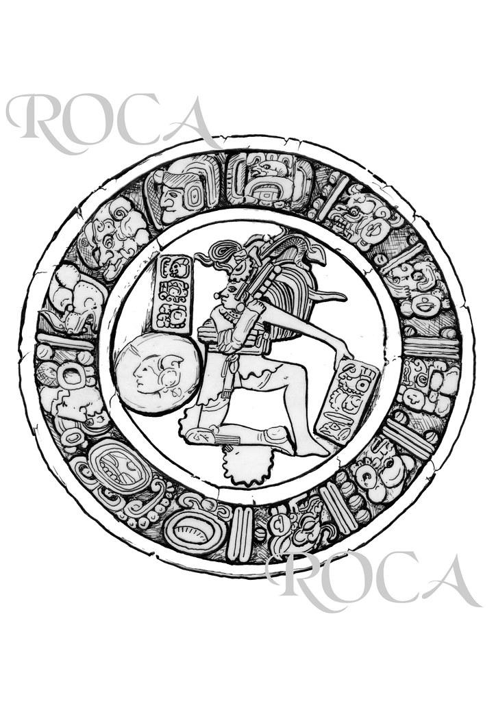 Cultura Maya Disco Del Juego De La Pelota Adrián Roca Roncali